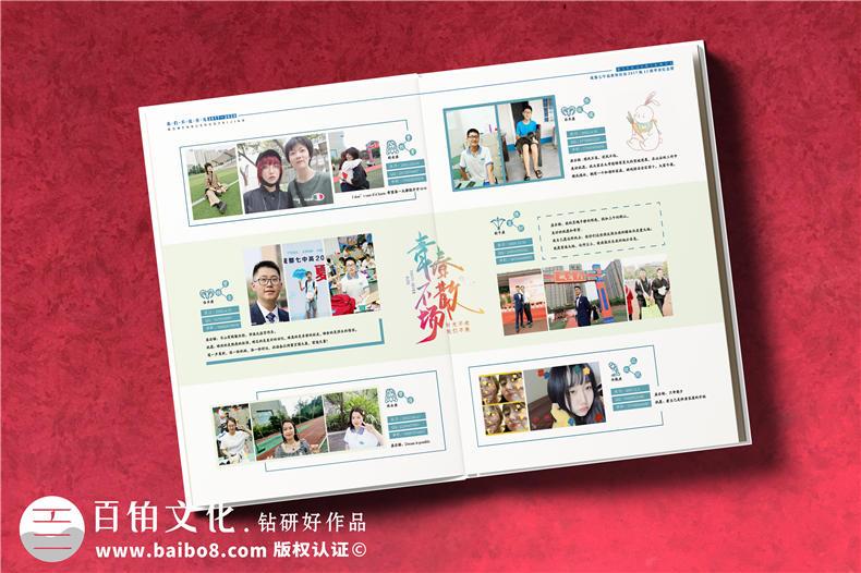 高中毕业手册-初入高中班级纪念册设计制作