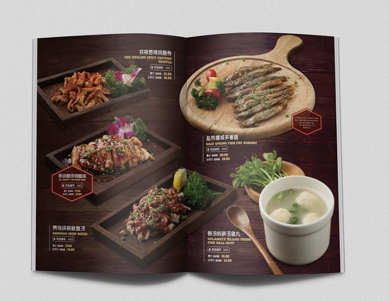 【菜谱设计制作公司】为海鲜餐厅做的菜谱设计,这菜品摄影太棒了!