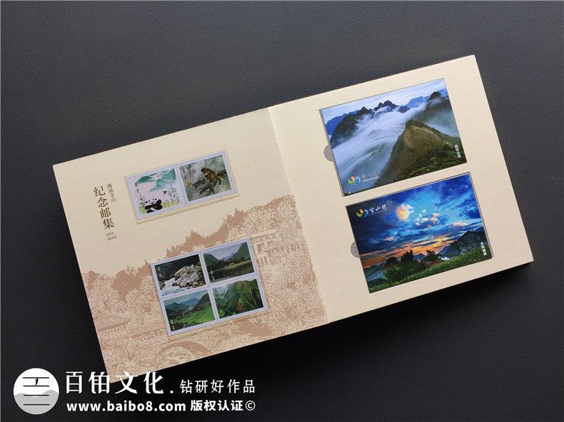 高端精装企业邮册定制-带纪念币/信封/明信片的烫金纪念邮册