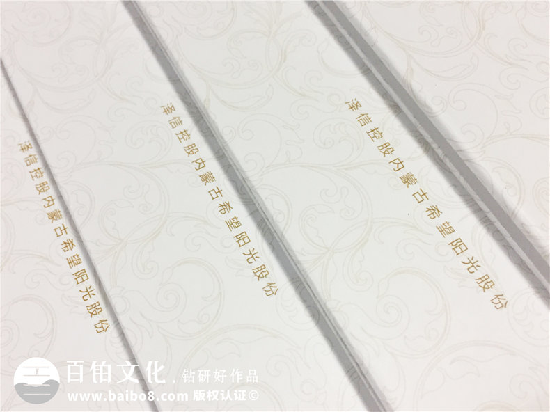 泽信控股企业纪念册邮册定制-公司宣传画册设计