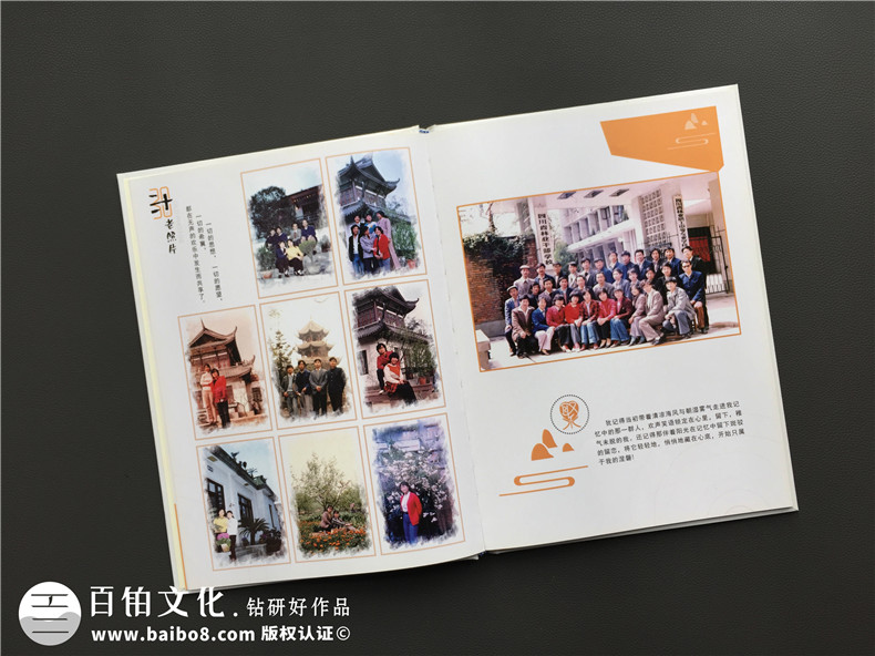 毕业30周年同学聚会照片相册影集制作-配任何文字序言都不及联络!