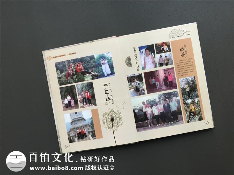 20年同学会纪念册设计思路-通讯录定制让人感想无限-重庆吹角中学