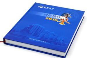曾都统计年鉴精装书-成都年集设计制作