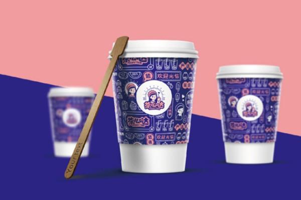 奶茶店vi设计项目有哪些?一套网红气质的奶茶品牌全案设计多少钱?