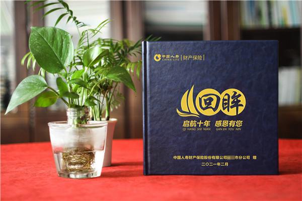 保险公司领导调离影集设计-总经理十年工作总结回忆录纪念册