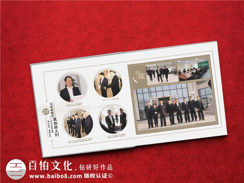 银行行长退休纪念册-单位老总调职个人风采掠影画册